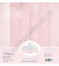 Набор односторонней бумаги для скрапбукинга Базовая розовая, 30х30 см, 250 гр/м, в наборе 12 листов