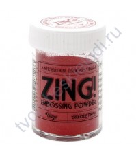 Пудра для эмбоссинга матовая ZING!, 28.4 гр, цвет Rouge (румяна)