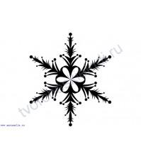 ФП штамп (печать) Снежинка-10, 4х4 см