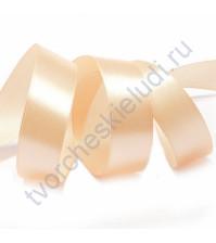 Лента атласная 25 мм, цвет розовоперсиковая-002, 1 метр