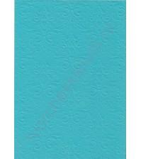 Лист бумаги для скрапбукинга с эмбоссированием (тиснением) Дамасский узор, А4, 160 гр, цвет ярко-голубой