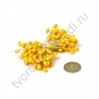 Тычинки двусторонние 3-4 мм, пучок 80 шт, цвет желтый