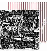 Бумага для скрапбукинга двусторонняя, коллекция 16+, 30.5х30.5 см, 190 гр\м2, лист Яркие эмоции