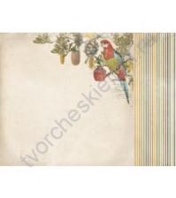 Бумага для скрапбукинга двусторонняя коллекция Great Southern Land, 30.5х30.5 см, 170 гр/м, лист Vic