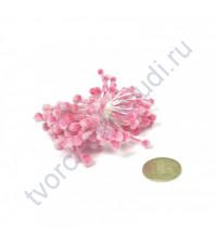 Тычинки двусторонние сахарные, пучок 80 шт, цвет розовый