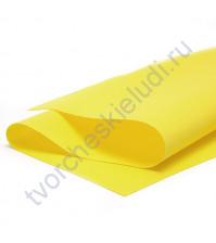 Фоамиран 1 мм, формат 25х25 см, цвет желтый