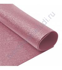 Фоамиран с глиттером, 2 мм, формат А4, цвет светло-розовый блеск