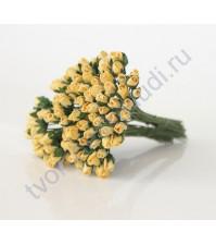 Бутоны роз маленькие 5 шт, цвет желтый