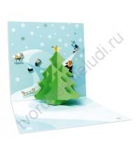 Набор для изготовления 3D-открытки Зимние горки
