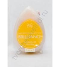 Подушечка чернильная пигментная капля Brilliance, размер 32х50, цвет солнечный желтый
