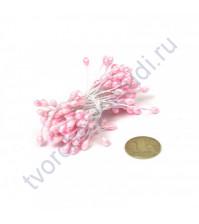 Тычинки двусторонние 3-4 мм, пучок 80 шт, цвет розовый