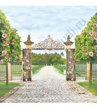 Бумага для скрапбукинга односторонняя Цветущий Сад, 30.5х30.5 см, 190 гр/м, лист Прогулка в саду