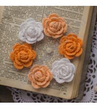 Набор вязаных цветов Лисья мордочка, 6 шт