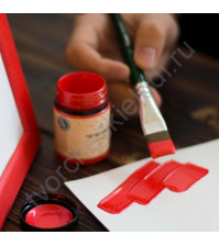 Краска акриловая перламутровая Tury Design Di-7 на водной основе, флакон 60 гр, цвет красный перламутр
