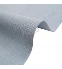 Кожзам переплетный с тиснением под холст на полиуретановой основе плотность 230 гр/м2, 33х70 см, цвет F352-голубой