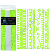 Набор бумажных ленточек Just the Edge-3, 10 видов по 2 штуки, цвет лайм