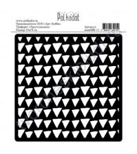 Трафарет пластиковый Треугольники, 15х15 см