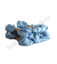 Шебби-лента мятая, детский голубой, ширина 14 мм, 1 метр