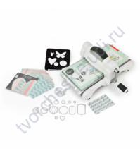 Машинка для эмбоссирования и вырубки Big Shot (White & Gray), набор для начинающих My Life Handmade Cardstock & Fabric, формат А5