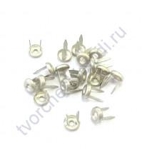 Набор брадсов Eyelet Brads Брадс-кольцо, 4 мм, 20 шт, цвет серебро