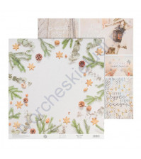 Бумага для скрапбукинга двусторонняя 30.5х30.5 см, 180 гр/м2, лист Тепла и счастья