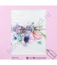 Декор из термотрансферной пленки Цветочный букет, 6.5х5 см