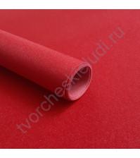 Кожзам переплетный на полиуретановой основе с фактурой глиттерплотность 280 гр/м2, 33х70 см, цвет 7809-красный