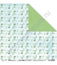 Бумага для скрапбукинга двусторонняя Краски лета, 30.5х30.5 см, 190 гр/м, лист 5