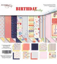 Набор двусторонней бумаги Birthday Party, 20х20 см, 190 гр/м, 10 листов
