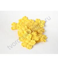 Лепестки гортензии большие 5 см, 10 шт, цвет желтый