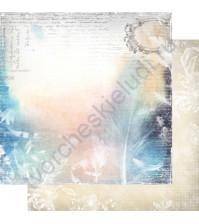 Бумага для скрапбукинга двусторонняя, коллекция Невесомость, лист 005