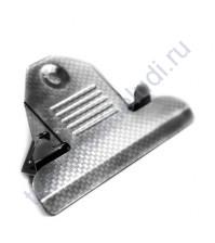 Зажим для клипборда 85 мм с 2 винтами для крепления, цвет серебро