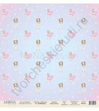 Бумага для скрапбукинга односторонняя DollHouse, 30.5х30.5 см, 190 гр/м, лист DollHouse-6