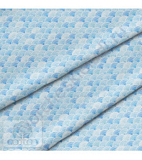 Ткань для рукоделия Волны, 100% хлопок, плотность 150 гр/м2, размер отреза 33х80 см
