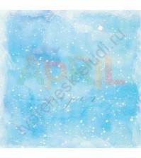 Бумага для скрапбукинга односторонняя Вставай на лыжи!, 30.5х30.5 см, 190 гр/м, лист Снегопад