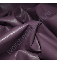 Кожзам на тканной основе плотность 220 гр/м2, 35х50 см, цвет 078-серовато-пурпурный