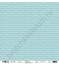 Бумага для скрапбукинга односторонняя Маленький пират, 30.5х30.5 см, 190 гр/м, лист Лагуна акул