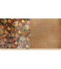 Бумага для скрапбукинга двусторонняя коллекция Осенний лес, 30.5х30.5 см, 250 гр/м, лист Шорох листьев