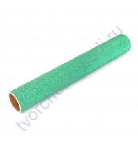 Винил клеевой глиттерный, цвет зеленый глиттер, 30.5х30.5 см (+/- 0.5см)