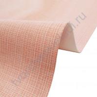Кожзам переплетный с тиснением под холст на полиуретановой основе плотность 230 гр/м2, 50х70 см, цвет F342-розовый