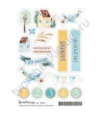 Набор декоративных наклеек Любимый дом, коллекция Весёлый паровозик, размер А6