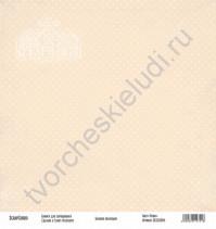 Бумага для скрапбукинга односторонняя, коллекция Базовая бежевая, 30х30 см, 250 гр/м2, лист Точки