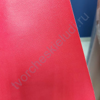 Кожзам переплетный с тиснением Геккон, плотность 255 гр/м2, 35х50 см, цвет красный