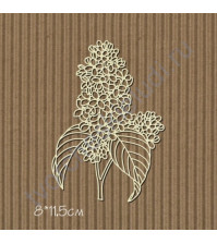 Чипборд Сирень ветка, 8х11.5 см