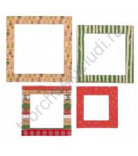Набор декоративных рамочек из чипборда с фольгированием Однажды в сказке, 4 штуки