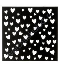 Трафарет для творчества Сердечки, 15х15 см