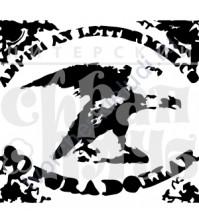 ФП печать (штамп) Марка с орлом, 3х2.8 см