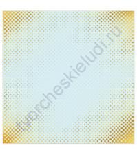 Бумага для скрапбукинга односторонняя с фольгированием золотом 30.5х30.5 см, 180 гр/м2, лист Один миг