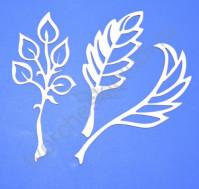 Чипборд Набор Листья, 3 элемента