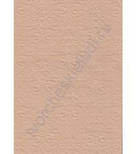 Лист бумаги для скрапбукинга с эмбоссированием (тиснением) Дамасский узор, А4, 130 гр, цвет крафт
